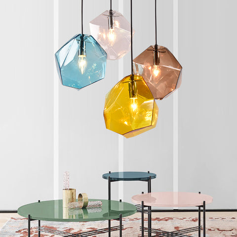 Image of Chunk Of Crystal -  Colorful Modern Glass Pendant Light