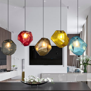 Chunk Of Crystal -  Colorful Modern Glass Pendant Light