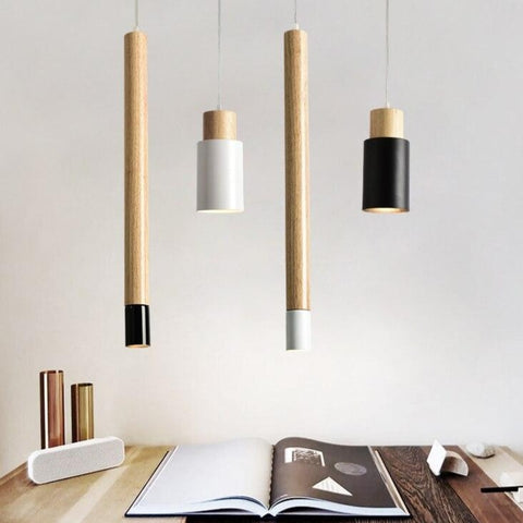Image of Ambrose - Modern Nordic Long Hanging Wood Light