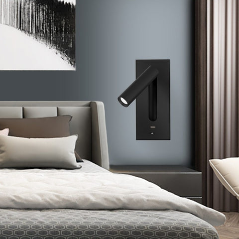 Image of 3W Rotating Bedroom Modern Wall Light - Sofrey Selects