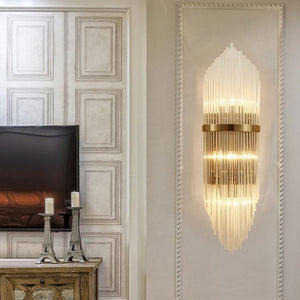 Gold Indoor Living Room Crystal Wall Lamp