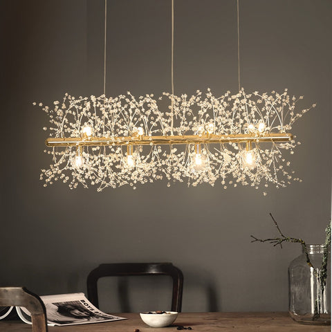 Image of Snowflake Crystal Living & Dining Room Chandelier
