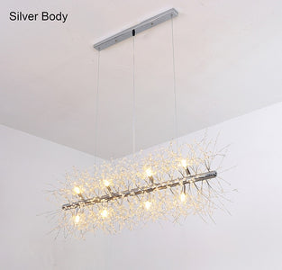 Snowflake Crystal Living & Dining Room Chandelier
