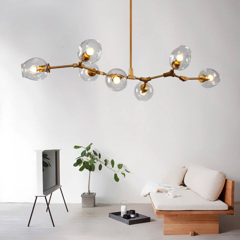 Image of Glass Globes Ceiling Light Industrial Style Pendant