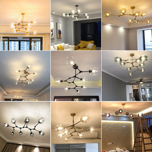 Glass Globes Ceiling Light Industrial Style Pendant