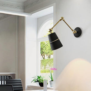 Retractable Long Arm Wall Lamp