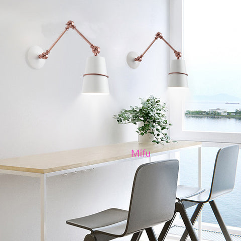 Image of Retractable Long Arm Wall Lamp