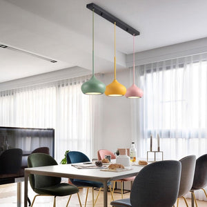 Colourful Dome Shaped Lampshade LED Pendant Lights