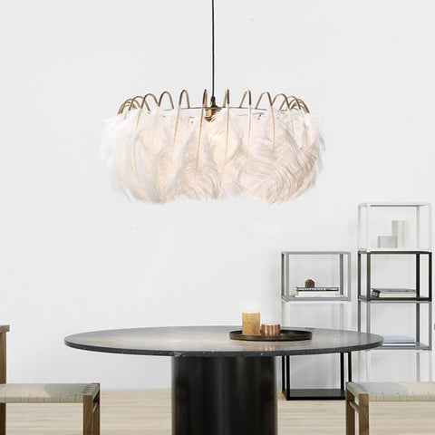Image of American Feather Chandeliers - Nordic, Modern Style