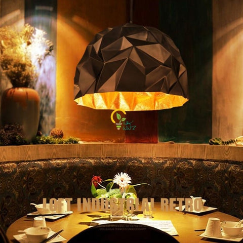 Image of Origami American Vintage Retro Crumpled Pendant Light