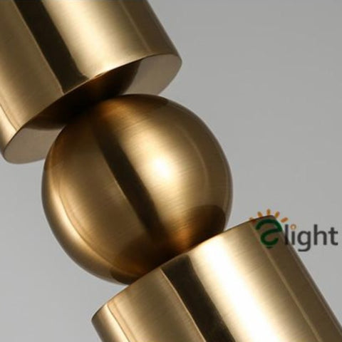 Image of Creative Cylinder & Sphere Post-Modern Pendant Light