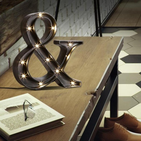 Image of AND Sign Industrial Style LED Table Lamp