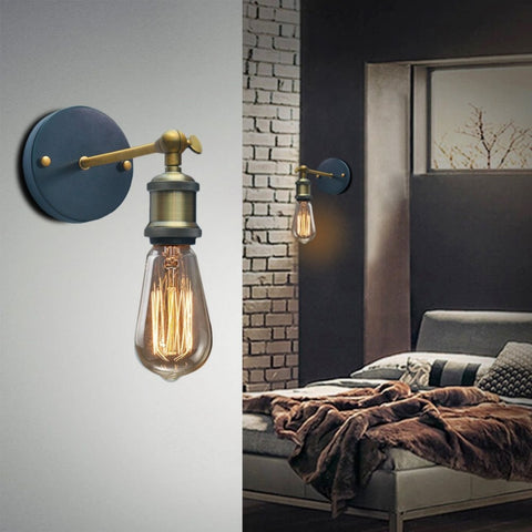 Image of Industrial Style Wall Lamp with Adjustable Knob