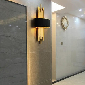 Metal Gold Pipe Led Wall Lamp