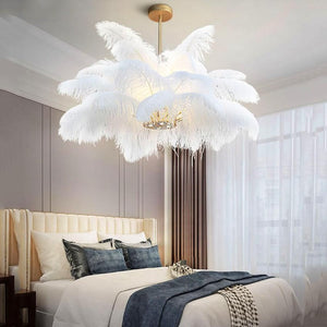 Multi-Feather Chandelier Light