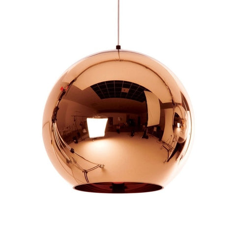 Image of Globe Wide Mini Glass Pendant Lights 7 & 3/4""