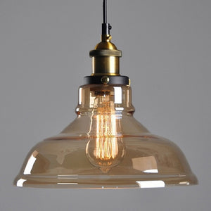 "Vintage 5.5"" To 11"" Wide Pendant Glass Retro Lights - Sofrey Select"