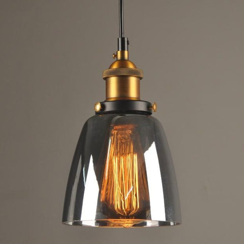 "Image of Vintage 5.5"" To 11"" Wide Pendant Glass Retro Lights - Sofrey Select"