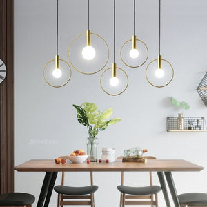Nordic Style Hanging Ring Lights (20-30-40cm)