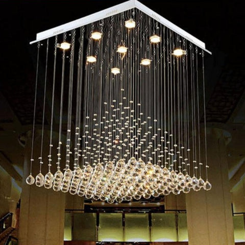 Modern CrystaL Chandelier  Pyramid Lamps