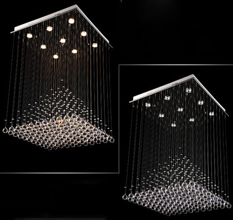 Image of Modern CrystaL Chandelier  Pyramid Lamps