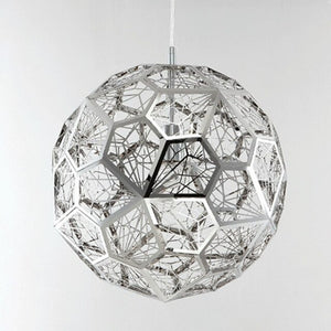 Modern Stainless Steel Diamond Ball Pendant Lights