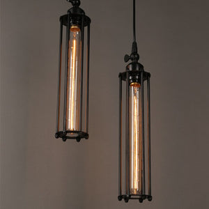 Vintage Country Style Pendant Light - Iron Cage Droplight