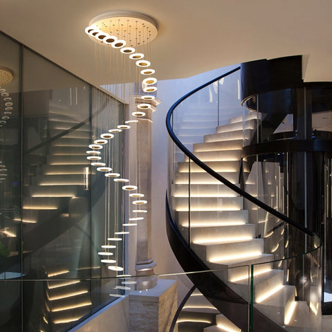 Image of Stairway Suspended Chandelier Pendant Lights