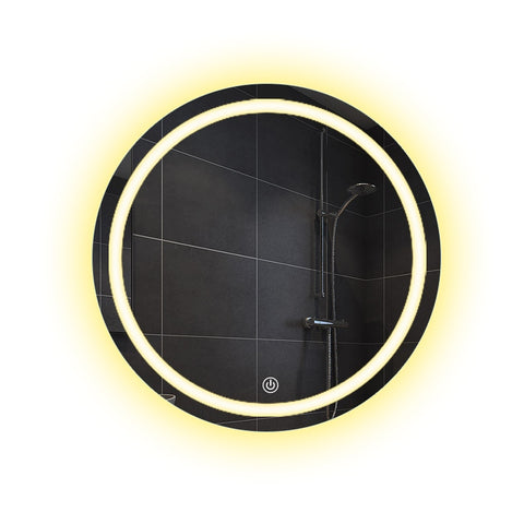 Image of Rosetta - LED Light Frame Round Mirror