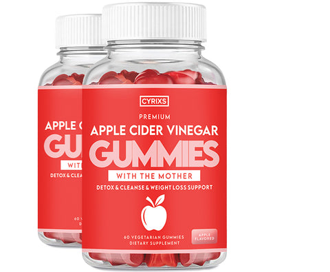 2 Bottles of Apple Cider Vinegar Gummies