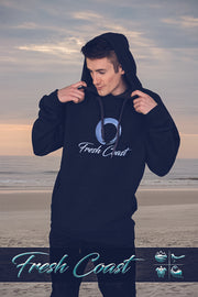 Men's Vintage Classic Logo Hoodie - Charcoal/Blue Shark