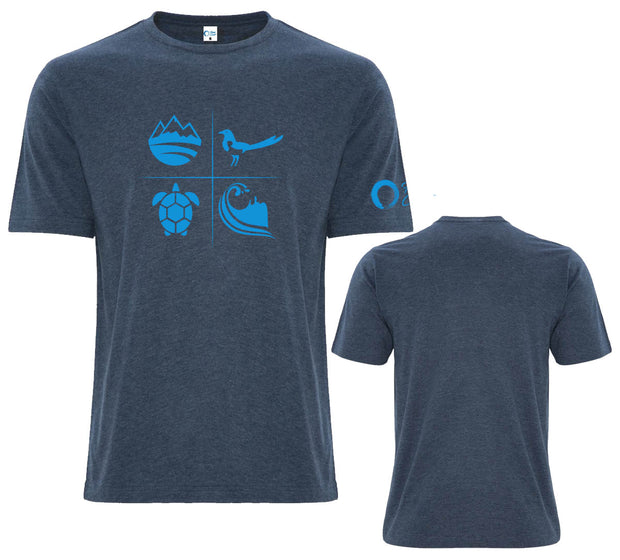 Men's Classic Crew Neck Graphic Tee - Navy/Deep Ocean