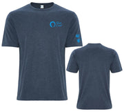 Men's Classic Crew Neck Logo Tee - Navy/Deep Ocean