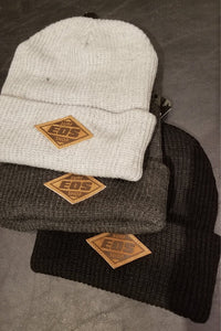 EOS Leather Patch Winter Beanie