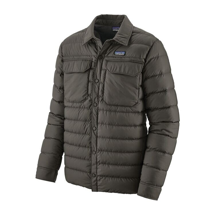 Men's Silent Down Shirt Jacket - Forge Grey