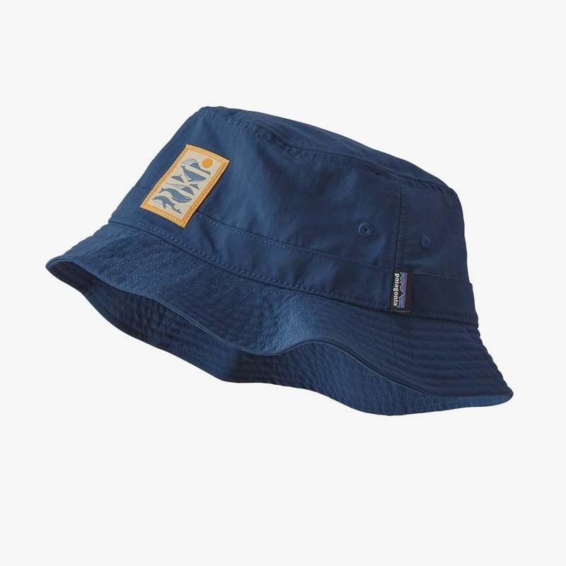 Wavefarer Bucket Hat - Whale Tail Tubes: Stone Blue