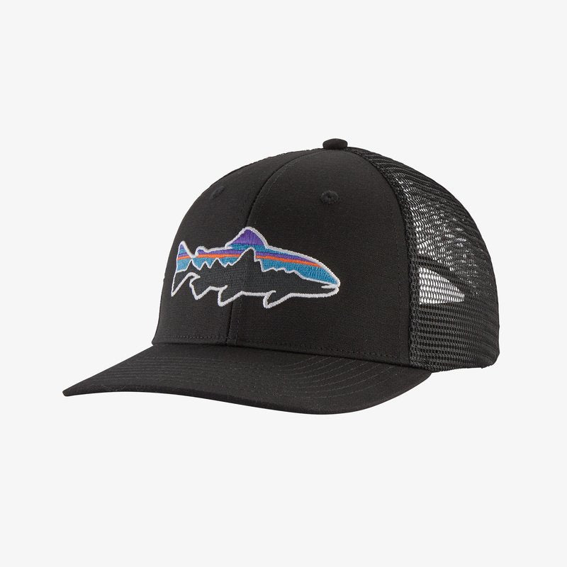 Fitz Roy Trout Trucker Hat - Black