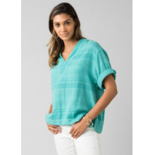Load image into Gallery viewer, Kai Top - Retro Teal Stripe