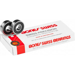SWISS SKATEBOARD BEARINGS 8 PACK