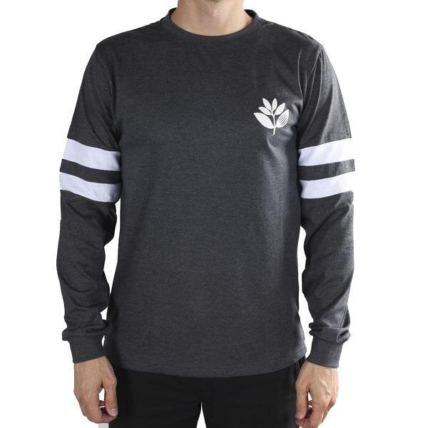 MAGENTA SKATEBOARDS TEAM LONG SLEEVE TEE DARK HEATHER GREY