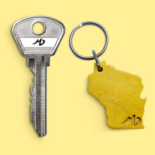 "Load image into Gallery viewer, MD WoodWorks ""Wisconsin"" Key Chain"