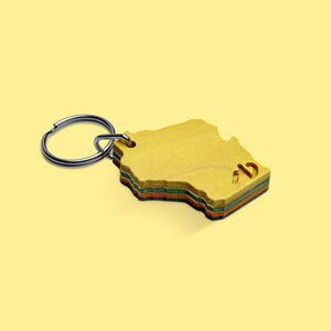 "MD WoodWorks ""Wisconsin"" Key Chain"