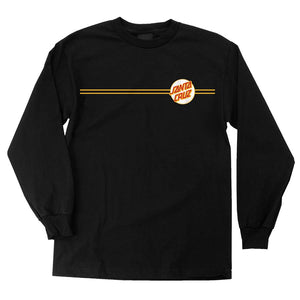 Other Dot L/S Regular T-Shirt Black w/White Mens Santa Cruz