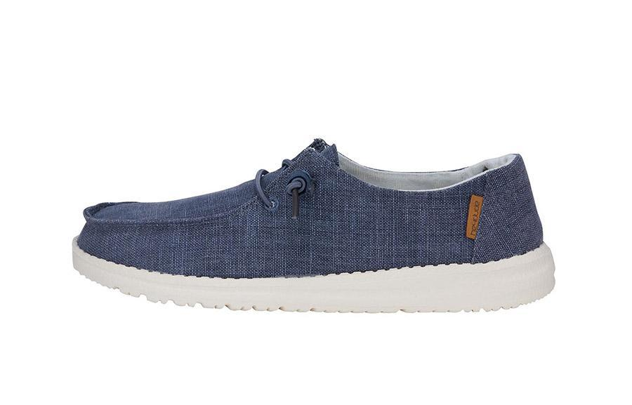 WENDY CHAMBRAY NAVY WHITE Women's Hey Dude shoes
