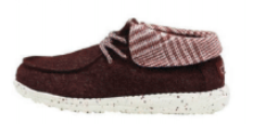 Britt Houndstooth Burgundy Shoe