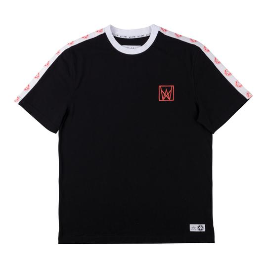 Welcome Chalice Taped Short Sleeve Knit - Black