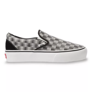 Vans HEMP BLUR CHECKER SLIP-ON PLATFORM SF