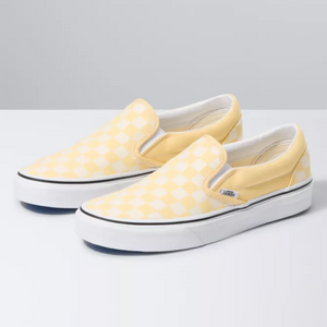 VANS CHECKERBOARD SLIP-ON GOLDEN HAZE/TRUE WHITE