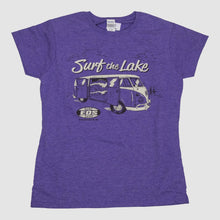 Load image into Gallery viewer, Womens Surf The Lake Shirt- Purple
