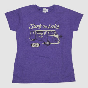 Womens Surf The Lake Shirt- Purple